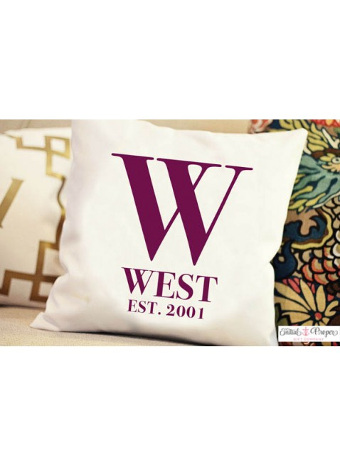 Casual Colors Pillow with Custom Text