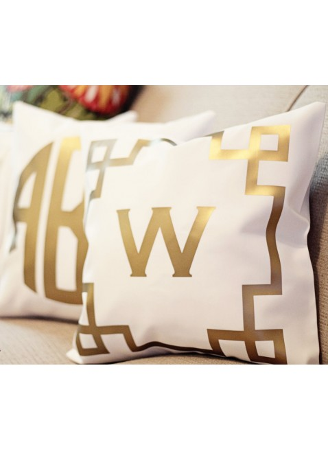 Metallic Pillow with Monogram