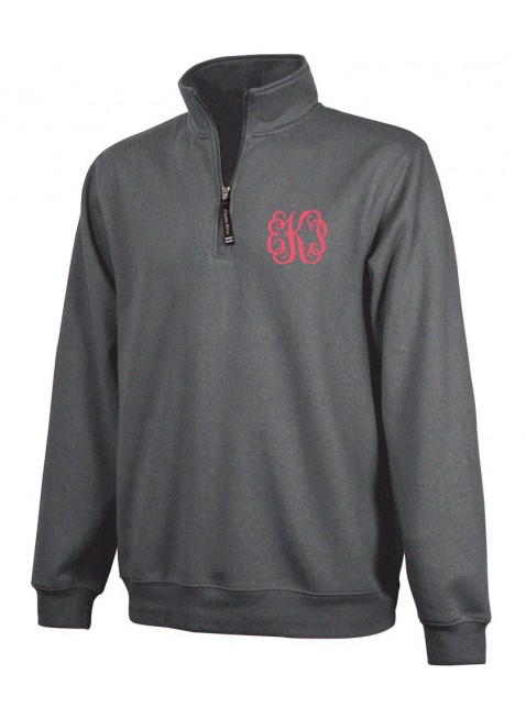 Monogram Quarter Zip Pullover MORE COLORS