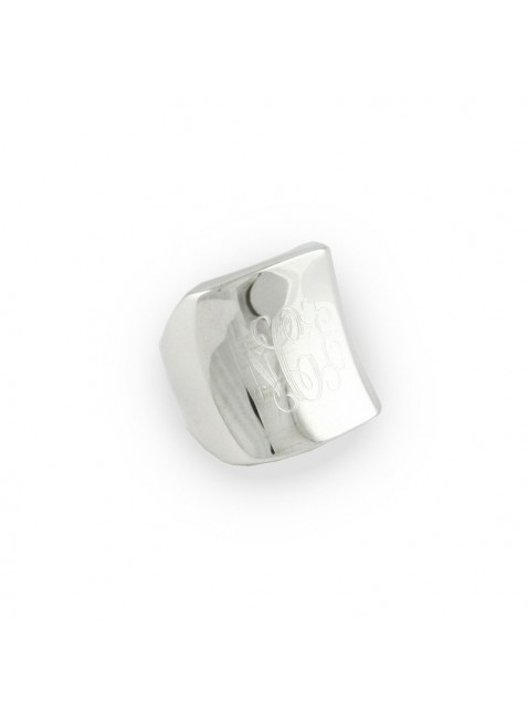 Sterling Silver Cigar Band Monogram Ring