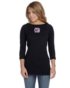 Monogram Boat Neck TShirt, More Colors