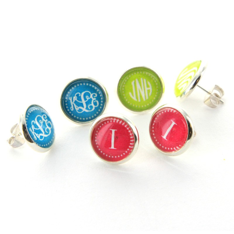 Classic Colors Personalized Earrings 16 COLORS