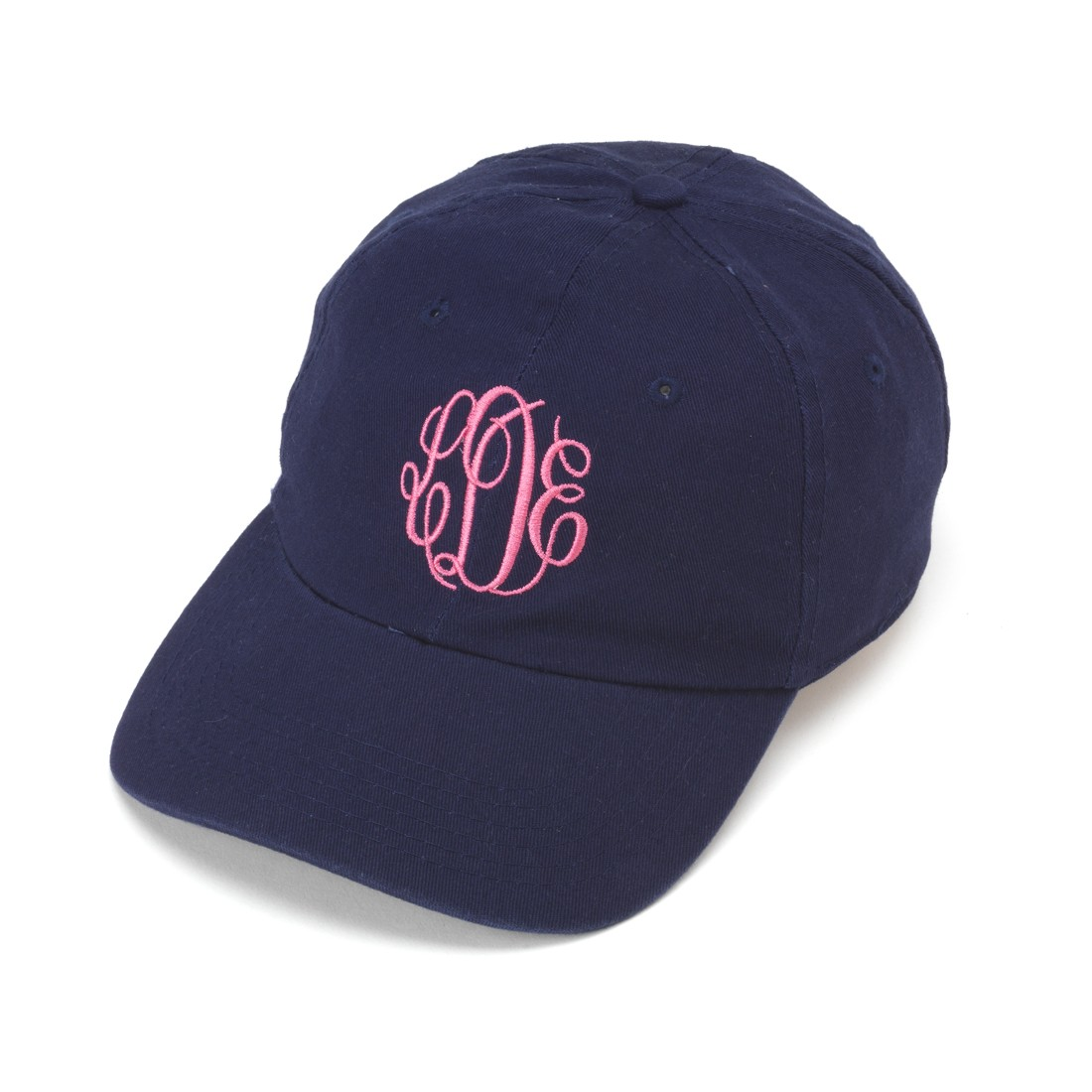 Navy Monogram Cap