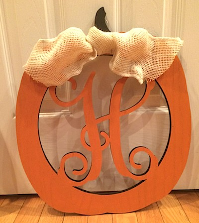 Pumpkin Wooden Monogram