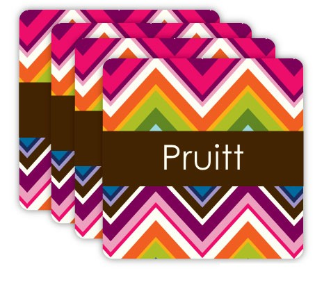 Coaster Set Chevron Multi Collection