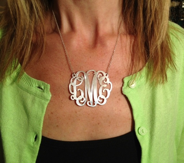 XXL Sterling Silver Interlocking Monogram Necklace