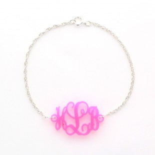 Acrylic Interlocking Monogram Bracelet