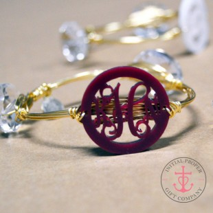 Monogram Wire Bangle Bracelet