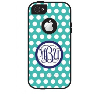 Otterbox Defender iPhone 5/5c/5s Monogram Cell Phone Cover Polka Dots