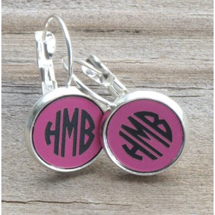 Drop Lever Engraved Acrylic Earrings