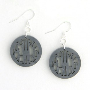Acrylic Round Rimmed Earrings