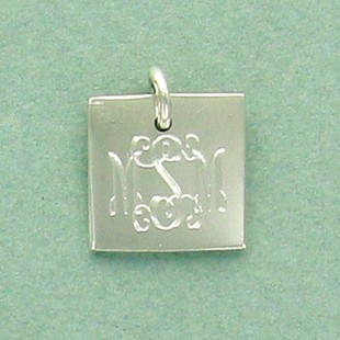 Sterling Silver Small Square Pennant