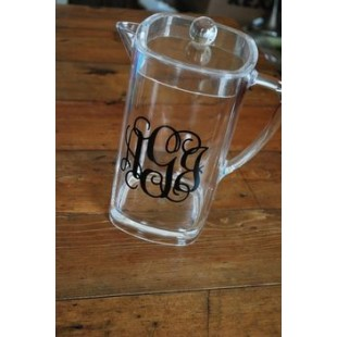 Acrylic Monogram Pitcher