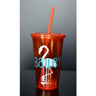 Custom Tumbler Cup with Straw