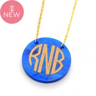 Acrylic Monogram Disc Necklace MORE COLORS