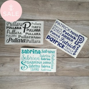SALE! Decal Name Sheet FREE SHIPPING